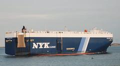 Selene Leader (jelpics) Tags: cargoship carcarrier roro merchantship nykline seleneleader boat bos boston bostonharbor bostonma harbor massachusetts massport ocean port ship sea vessel
