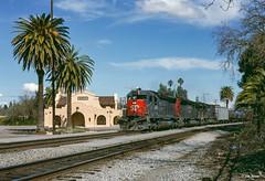 SP 7496 West at Davis, CA (thechief500) Tags: calp railroads sp davis ca usa espee southernpacific california