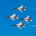 FOUR F-16S OF THE THUNDERBIRDS THUNDERING BY
