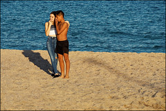 Close Friends   Blanes, Catalonia (Flemming J. Gade) Tags: youngsters contest jump beach fun friends blanes catalonia