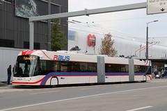 2019-11-11, VBL, Ebikon, Mall of Switzerland (Zugerstrasse) (Fototak) Tags: trolleybus filobus obus swisstrolley maxitrolleybus hess vbl luzern switzerland rbus mallofswitzerland ligne1 418