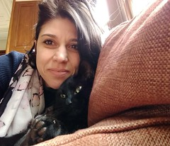 Selfie with Lucky at work (lozinka_gergova) Tags: lucky threeleggedcat blackcat cutecats cutie littlepals friend cuddles selfies tuesday scotland highlands tain mansfieldcastle atwork