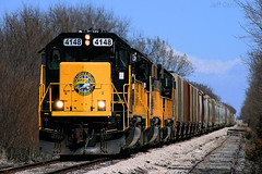 ATSF's ex-Tulsa Main (Jeff Carlson_82) Tags: wamx watco emd sd402 ks bolton kansas southeast skol southkansasoklahoma 4148 train railroad railfan railway jointedrail
