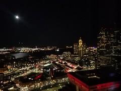 11-13-2019: Moonlit harbor. Boston, MA (msmariamad) Tags: project365 moonlight moon boston bostonharbor customhouse bostoncityhall loganairport