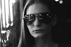 Savannah in shades (radargeek) Tags: film 35mm 2019 oklahoma bw iso3200 minolta x370s savannah mustang