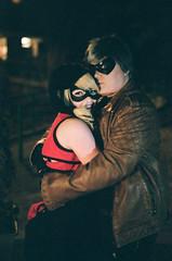 Holding her tight (radargeek) Tags: film 35mm 2019 oklahoma minolta x370s willrogersgarden bedfordscamera bedfords thirdthursdayphotowalk cosplay hug hugging mask costume 3rdthursdayphotowalk itechabyte halevuna
