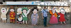 Eric posing with the locals (tlkativ) Tags: jongnogu seoul southkorea streetart