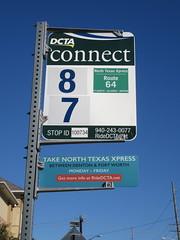DCTA Bus Stop Sign (TheTransitCamera) Tags: dentoncountytransitauthority dcta publictransit publictransport bus busstop sign flag denton texas