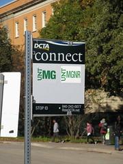 DCTA Bus Stop Sign (TheTransitCamera) Tags: dentoncountytransitauthority dcta publictransit publictransport bus busstop sign flag denton texas unt universityofnorthtexas university college campus study