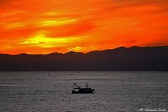 Tramonto (Rolando CRINITI) Tags: tramonti panorami paesaggi genova natura controluce silhouette barche