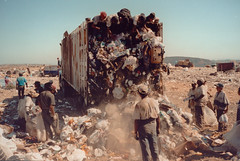 dump treasure seekers (Pejasar) Tags: dump treasure workers trash tijuana mexico life scannedphoto from1990s