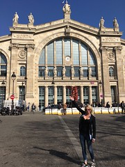 Paris  France  -  The Grare du Nord Station  - Taking Eurostar to London  - (Onasill ~ Bill Badzo - New Format) Tags: 112 rue de maubeuge 75010 paris îledefrance france paris–lille railway train eurostar london statue mero channel tunnel united kingdom getlin barbie downtown