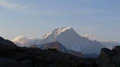 Le Mont Blanc vu du Col de la Traversette. (ViveLaMontagne67) Tags: france alpes alpen alps savoie savoy tarentaise alpesgrées coldelatraversette crêtedesembrasures larosière coldupetitsaintbernard italie frontière nature paysage montagne montblanc sommet neige nuages ciel bleu cielbleu ensoleillé sunny bluesky blue sky clouds snow summit peak mountain landscape 250v10f
