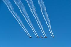Roulettes - First Air Display (Serendigity) Tags: adelaide australia edinburgh pc21 pilatus raafbase roulettes royalaustralianairforce sa southaustralia aerobatics airshow aviation display flying flyingdisplay formationflying smoketrail