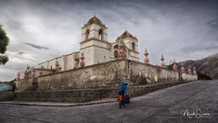 Churches of Colca valley (marko.erman) Tags: colca valley river peru latinamerica southamerica church colonialstyle architecture perspective uwa ultrawideangle outside outdoor woman child traditional travel sony