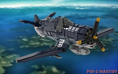 Martin-Ball P5F Mastiff (Cagerrin) Tags: lego system airplane plane aircraft fighter carrierfighter radial gullwing ldd legodigitaldesigner 3d model