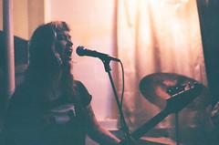 Singing at Sluggo's (radargeek) Tags: film 35mm 2019 chattanooga tn tennessee minolta x370s onetimers singing sluggos band music