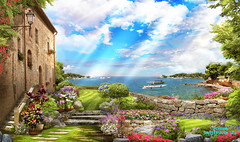 old_street_view_sea (166bpm) Tags: ancient antique arch architecture art background balcony beautiful building castle city classic digital flower fresco garden house illustration isolated italy landscape mural natural nature old outdoor paris park plant sea season sky street summer terrace travel view vintage wall wallpaper water waterfall window