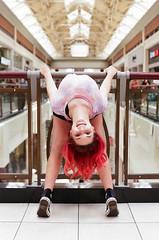 Bending over backwards for the shot (radargeek) Tags: film 35mm 2019 oklahoma minolta x370s christina twistina bendythings acrobat circusthings benddontbreak mall pennsquaremall