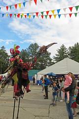 Fantastical bird at the Francophone Festival on Granville Island, Vancouver, Canada (albatz) Tags: granvilleisland vancouver canada fantastical francophone festival bird