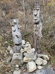 Two shamanic guardians (Panda Mery) Tags: gwanaksan korea seoul stones