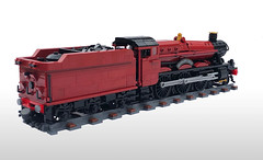 LEGO Hogwarts Express (Britishbricks) Tags: lego gwr hogwarts hogsmeade harrypotter wip moc loco steam train custom express hall oltonhall
