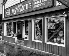Rempel Mercantile & Antiques - Fort Langley, BC (SonjaPetersonPh♡tography) Tags: fortlangley langley townshipoflangley bc britishcolumbia canada nikon nikond5300 afsdxnikkor18300mmf3563gedvr antiques rempelmercantile vintage store merchandise signs gaspumps retro favouritestores records books refinishing