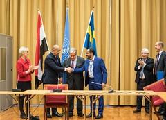 OSESGY in Yemen (UNinYE) Tags: utrikesdepartementet yemen un unitednations secretarygeneral osesgy special envoy martin griffiths sweden consultation antónio guterres