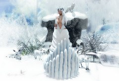 SNOW STORY (Rachel Swallows Inworld Elenamicheals Core) Tags: snow winter frozen ice christmas foxes wolves deer rabbits nature landscaping garden xmas tmcreation haveunequal enchantmentevent secondlife fashion