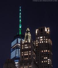Lower Manhattan (20191111-DSC08895) (Michael.Lee.Pics.NYC) Tags: newyork night veteransday lowermanhattan onewtc wtc worldtradecenter architecture cityscape skyscraper illuminated sony a7rm4 fe24105mmf4g woolworthbuilding fourseasons