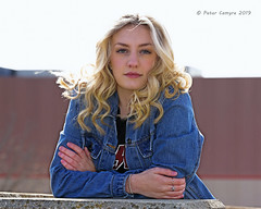 Hailey - November 10, 2019 (Peter Camyre) Tags: portrait cold photoshoot garage parking windy pictures girl beautiful fashion portraits canon photography model friend peter teen teenager camyre november fun pretty 10 massachusetts sunday blonde holyoke mass lively 2019 photogrenic