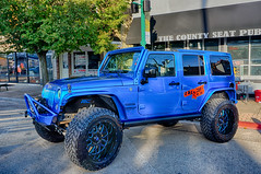 Big Blue (kendoman26) Tags: htt happytruckthursday jeep jeepwrangler hdr sonyalpha sonyphotographing sonya6000 selp1650