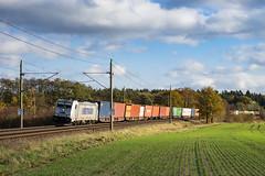 Muessen Feld Metrans 386 014-5 Container (Wolfgang Schrade) Tags: metrans br186 3860145 containerzug container kbs100 müssen zug güterzug eisenbahn