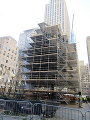 2019 Christmas Tree Rockefeller Center with scaffolding 9649 (Brechtbug) Tags: 2019 christmas tree rockefeller center with scaffolding waiting be decorated filled out extra green branches nyc 30 rock new york city standing up above ice rink without before fixing holiday decoration ornaments 11122019 around noon lights lites light oversize load ornament wednesday