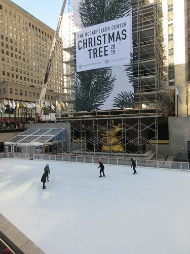 2019 Christmas Tree Rockefeller Center with scaffolding 9642