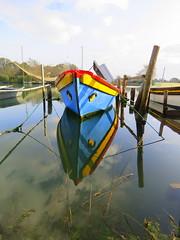 IMG_0009x (gzammarchi) Tags: italia paesaggio natura ravenna portocorsini piallassabaiona piallassa lago barca riflesso palo