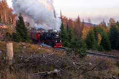 with full steam up the mountain (Rambofoto) Tags: dampf harz brockenbahn fujifilmxt20