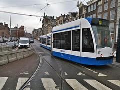 Ontsporing (1) (Peter ( phonepics only) Eijkman) Tags: amsterdam city combino detour derailment omleiding ontsporing gvb tram transport trams tramtracks trolley rails rail strassenbahn streetcars nederland netherlands noordholland nederlandse holland