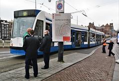 Ontsporing (2) (Peter ( phonepics only) Eijkman) Tags: amsterdam city combino gvb detour omleiding derailment ontsporing tram transport trams tramtracks trolley rails rail strassenbahn streetcars nederland netherlands holland