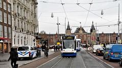 Ontsporing (3) (Peter ( phonepics only) Eijkman) Tags: amsterdam city combino derailment ontsporing detour omleiding gvb tram transport trams tramtracks trolley rail rails strassenbahn streetcars nederland netherlands nederlandse noordholland holland