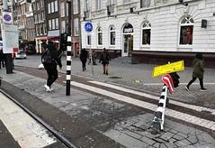 Ontsporing (6) (Peter ( phonepics only) Eijkman) Tags: amsterdam city combino gvb derailment ontsporing detour omleiding strassenbahn streetcars tram transport trams tramtracks trolley rail rails nederland netherlands nederlandse noordholland holland