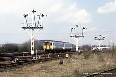 26/04/1989 - Wrawby Junction, Barnetby, North Lincolnshire. (53A Models) Tags: britishrail class156 supersprinter 156479 dmu diesel passenger wrawbyjunction barnetby northlincolnshire train railway locomotive railroad