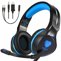 BUTFULAKE Xbox One Headset, Gaming Headset for Xbox One, Xbox One S, PS4, PC, Nintendo Switch, Laptop, Mac, Computer, 3.5mm Wired Over-Ear Gaming Headphones with LED Light & Noise Cancelling Mic, Blue (shop8447) Tags: blue butfulake cancelling computer for gaming headphones headset laptop led light mac mic nintendo noise one overear pc ps4 switch wired with xbox