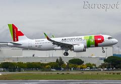 F-WWDZ Airbus A320 Neo Air Portugal (@Eurospot) Tags: airbus a320 neo toulouse blagnac fwwdz cstvg 9354 airportugal