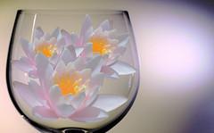 Crystal vase and lotus flowers (maríaelenalópez) Tags: lookingcloseonfriday crystal glass cristal loto lotus