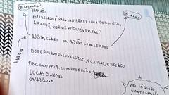 Criança escreve bilhete inusitado para que sua mãe o deixe faltar aula (juliansantoscunha) Tags: criança escreve bilhete inusitado para que sua mãe o deixe faltar aula