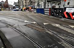Ontsporing (5) (Peter ( phonepics only) Eijkman) Tags: amsterdam city combino gvb tram transport tramtracks trams ontsporing derail derailment rail rails strassenbahn streetcars nederland netherlands nederlandse noordholland holland