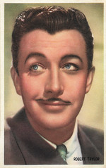 Robert Taylor (Truus, Bob & Jan too!) Tags: roberttaylor robert taylor american actor film cinema kino cine picture screen movie movies hollywood filmster star vintage collectors card sammelkarte verzamelkaart karte carte tarjet catolina kwatta mgm ambush 1950