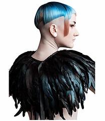 L'VOW Fashion Feather Cape Stole Black Shrug Shawl Poncho Iridescent (shop8447) Tags: black cape fashion feather iridescent lvow poncho shawl shrug stole