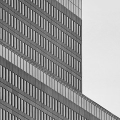 Architectural Abstract (2n2907) Tags: blackwhite bw abstract architecture glass office building windows skyscraper graphic geometric geometry pattern lines graphical design rectangles array diagonal linear